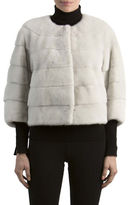 Gorski Mink Fur 3/4-Sleeve Jacket