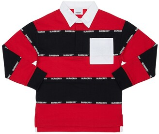 Burberry Striped Cotton Piquet Polo