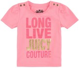 Juicy Couture Baby Logo Long Live Jc Short Sleeve Tee