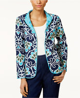 Alfred Dunner Petite Open-Front Quilted Jacket