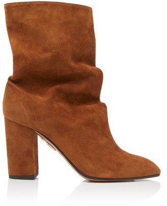 Aquazzura Boogie Suede Ankle Boots
