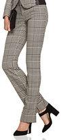 New York & Co. 7th Avenue Design Studio Pant - Modern - Leaner Fit - Straight Leg - Glen Plaid - Tall