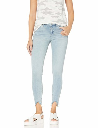 Vince Camuto Women's Un-Even Hem Five Pocket Skinny Jean