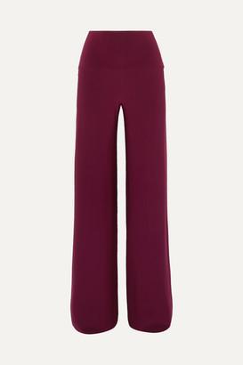 Norma Kamali Elephant Stretch-jersey Wide-leg Pants - Plum