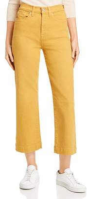 7 For All Mankind Alexa Cropped Wide-Leg Jeans in Amber