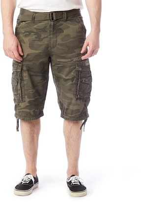 UNIONBAY Men's Cordova Messenger Belted Cargo Shorts