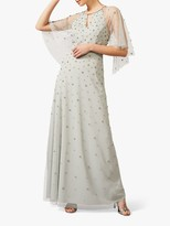 Phase Eight Blanca Crystal Embellished Tulle Maxi Dress, Duck Egg