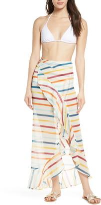 Chelsea28 Ruffle Chiffon Sarong Skirt