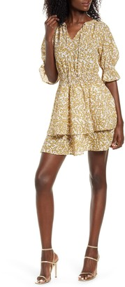 ALL IN FAVOR Ditsy Tiered Mini Dress