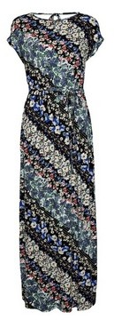 Dorothy Perkins Womens Multi Colour Floral Print Roll Sleeve Maxi Dress