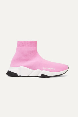 Balenciaga Speed Stretch-knit High-top Sneakers - Pink