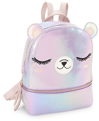 Under One Sky Girl's Bear Faux Leather Backpack