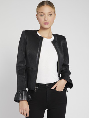 Alice + Olivia JONIE LEATHER JACKET