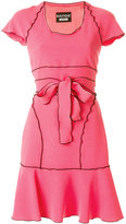 Moschino contrast trim belt dress - women - Polyester/Acetate/Triacetate - 40
