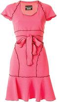 Moschino contrast trim belt dress