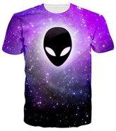 Uideazone Men's Printed Galaxy Shirt Teen Graphic Tee Sleeve Casual
