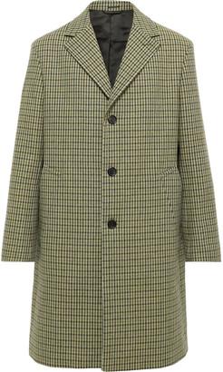 Acne Studios Houndstooth Wool-Blend Tweed Overcoat