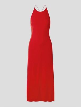 Rosetta Getty Open-Back Stretch-Jersey Midi Dress
