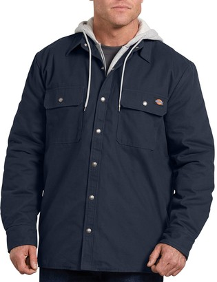 Dickies Big & Tall Relaxed-Fit Hooded Duck Shirt Jacket