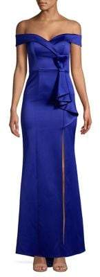 Quiz Sweetheart Bow Thigh-Slit Gown