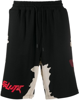 Salute Butterfly-Print Track Shorts