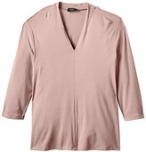 Via Appia Women's V-Neck 3/4 sleeve T-Shirt - Pink -