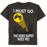 Gildan I Must Go Video Games Need Me Bat Signal Graphic Shirt