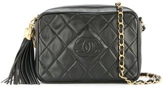 Chanel Pre Owned 1989-1991 Quilted Fringe Chain Shoulder Bag