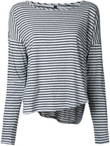 Nobody Denim - Organic Crew L/S Fine Stripe Tee - women - Organic Cotton - M