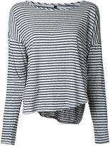 Nobody Denim - Organic Crew L/S Fine Stripe Tee - women - Organic Cotton - XS