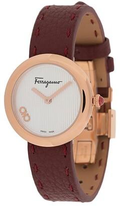 Salvatore Ferragamo Signature leather-strap watch