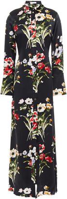 Olivia von Halle Hero Floral-print Silk-satin Maxi Dress