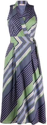 Tory Burch Striped-Print Wrap Dress