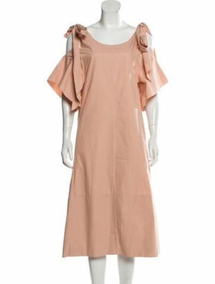 Chloé Cold-Shoulder Midi Dress w/ Tags