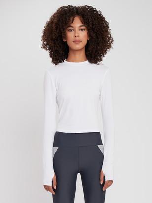 Lanston Sport Thumbhole Crewneck Long Sleeve Shirt
