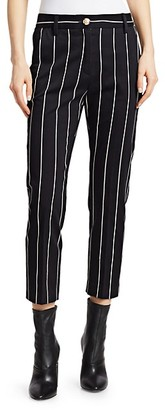 Derek Lam Striped Cropped Pants