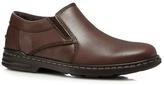 Hush Puppies Brown 'alan Hanston' Leather Slip-on Shoes
