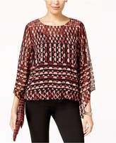 Alfani Angel-Sleeve Blouson Top Available in Regular & Petite Sizes, Created for Macy's