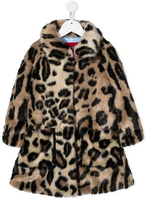 Mi Mi Sol Faux Fur Leopard Print Coat