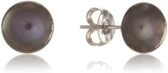 Auree Jewellery Molina Black Freshwater Pearl Stud Earrings
