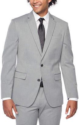 Jf J.Ferrar Light Grey Texture Classic Fit Stretch Suit Jacket