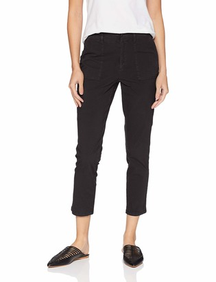 Daily Ritual Amazon Brand Women's Washed Poplin Patch-Pocket Pant
