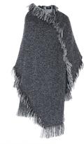 Paule Ka Tweed Fringe Blanket Coat