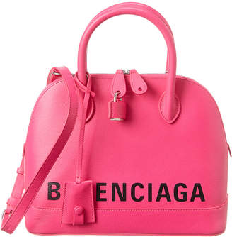 Balenciaga Ville Small Leather Top Handle Tote