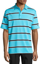 Callaway Rugby Stripe-Print Polo Shirt, Blue Pattern