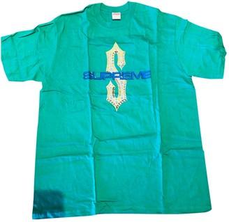 Supreme Green Cotton T-shirts