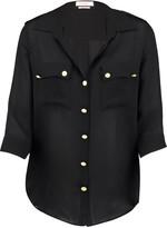 L'Agence Pauline silk-chiffon shirt