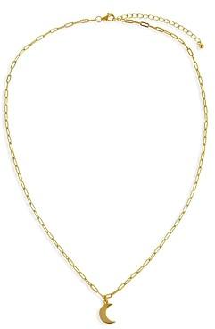 Adina's Jewels Solid Crescent Moon Pendant Necklace, 16-18