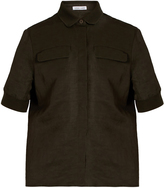 Tomas Maier Short-sleeved knit-trim shirt