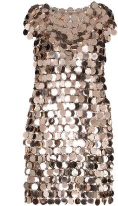 Paco Rabanne sequin embellished mini dress